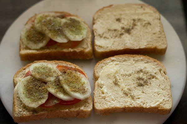 making tomato cucumber sandwich recipe