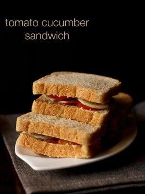 tomato cucumber sandwich