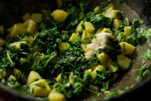 add salt to aloo methi recipe