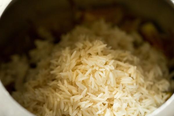 rice for baingan pulao recipe