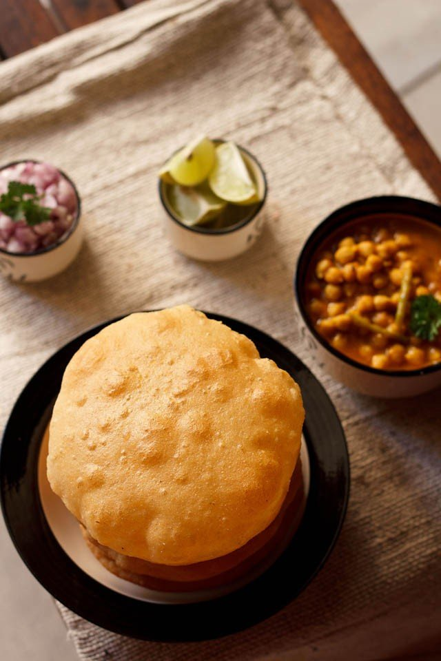 bhatura of chole bhature