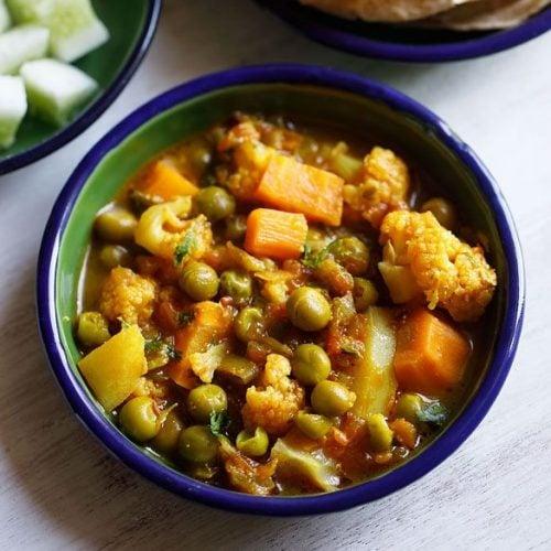 mix veg recipe, mix veg gravy recipe