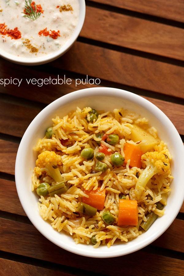 spicy vegetable pulao recipe