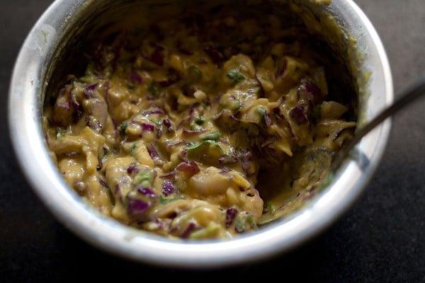 batter for making cabbage pakora recipe
