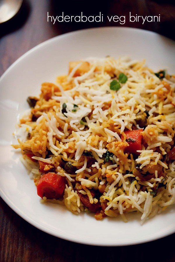 veg biryani recipe, how to make hyderabadi veg biryani recipe