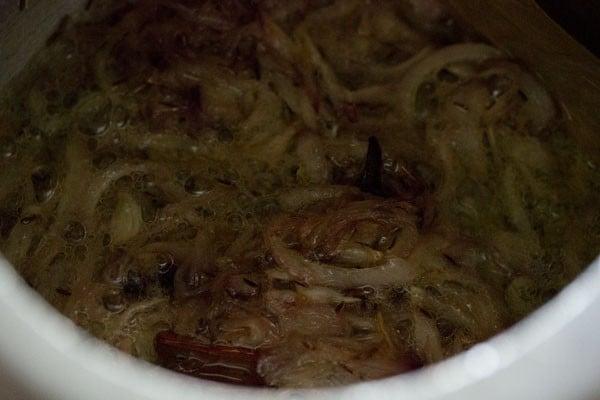 onions for veg biryani recipe