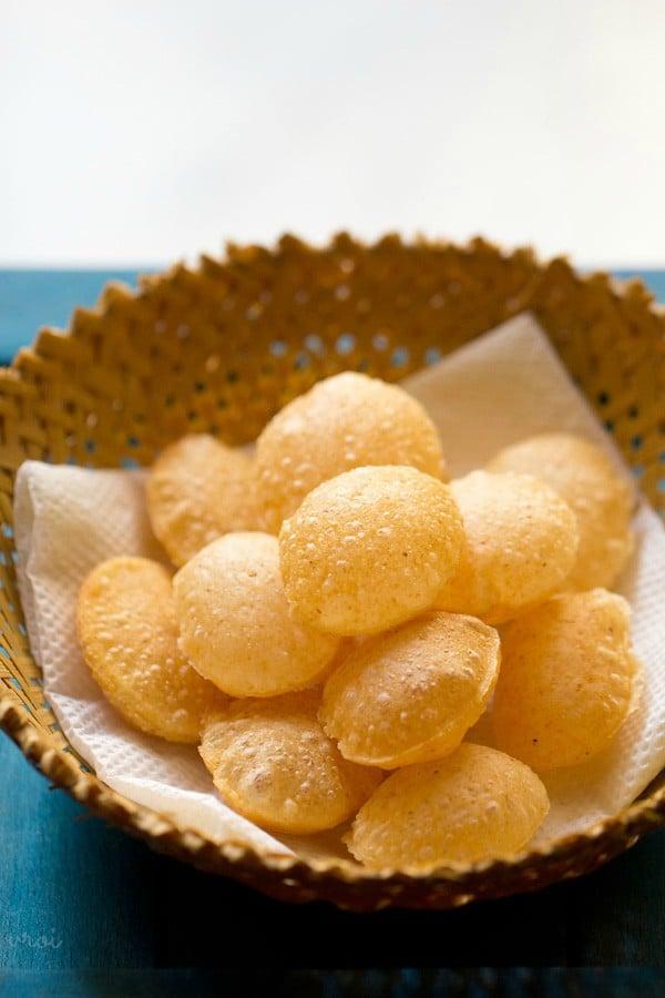 puri recipe for pani puri, puri recipe