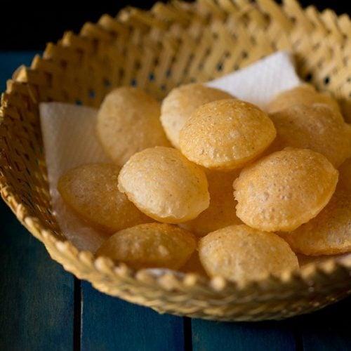 puri recipe, puri recipe for pani puri, golgappa puri