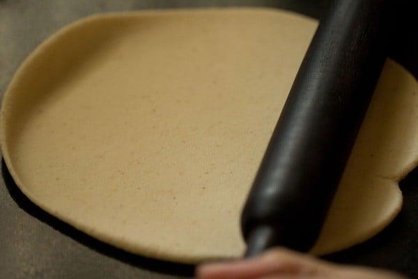 rolling puri dough