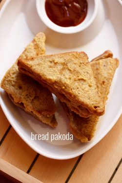 bread pakora recipe with stuffed potato, how to make bread pakora