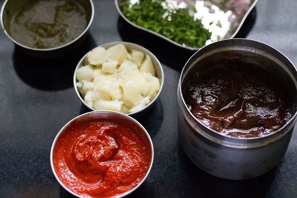ingredients for devi sev batata puri recipe