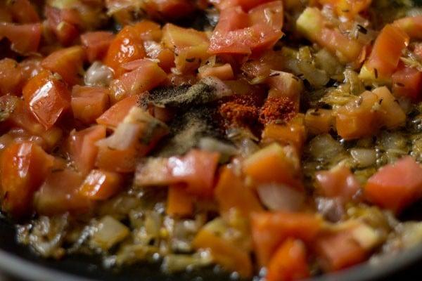 spices for dhingri dolma recipe