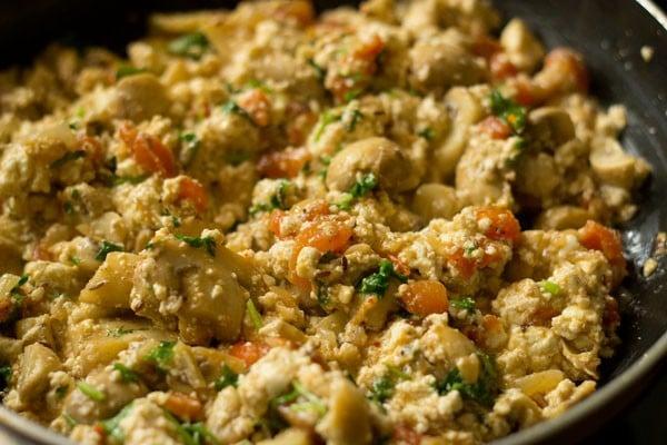 making mushroom paneer recipe