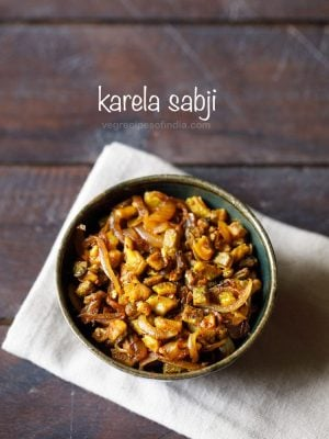 karela sabzi recipe | dry bitter gourd curry recipe | karela recipes