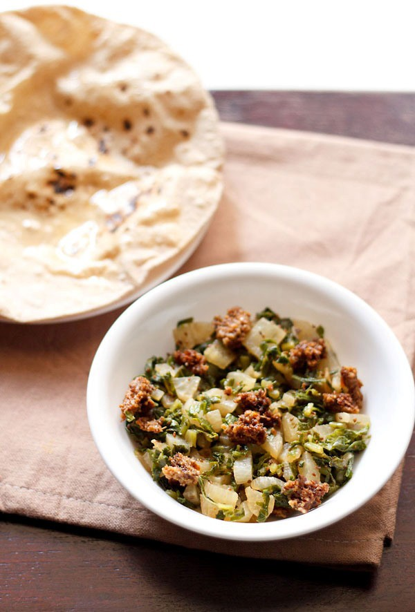 mooli sabzi wadi recipe