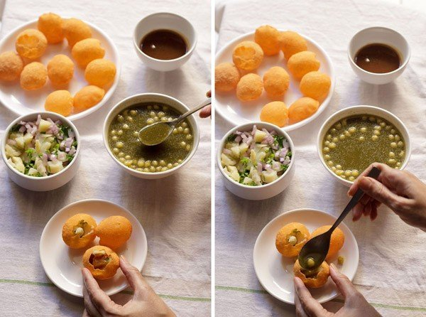 Pani puri recipe how to make pani puri recipe easy pani for Awadhi cuisine ppt