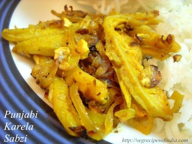 Karela Sabzi Recipe: Punjabi Karela Sabzi, Dry Karela Sabzi Recipe