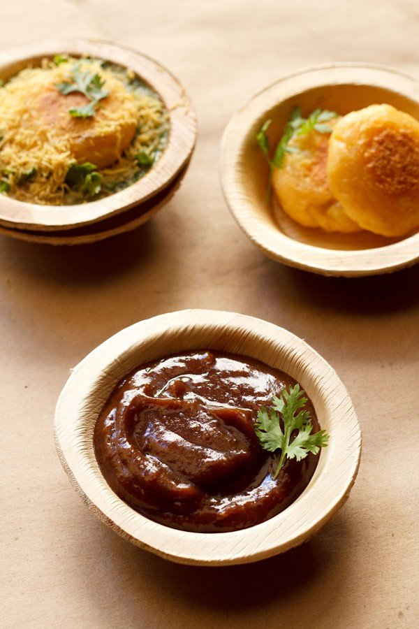 sweet chaat chutney recipe, tamarind date chutney recipe