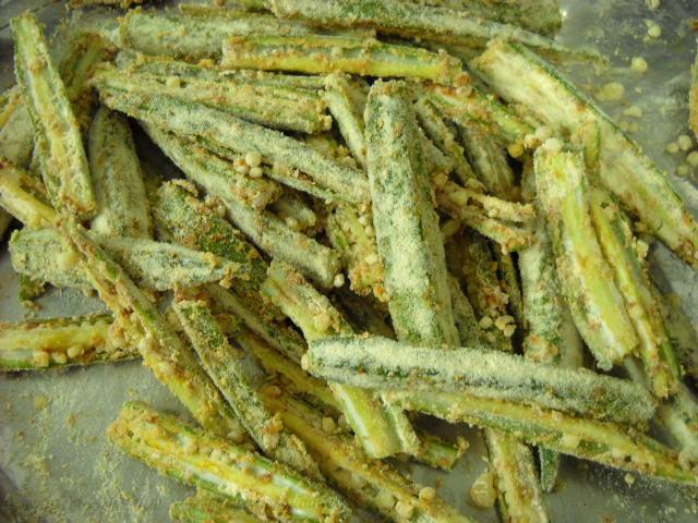 bhindi mixed with besan