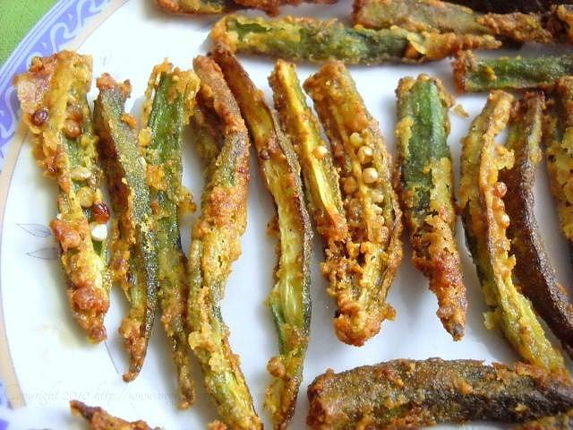 crispy bhindi recipe
