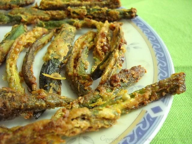 crispy bhindi okra