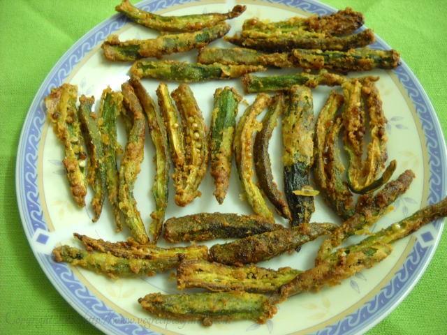 crispy bhindi okra recipe