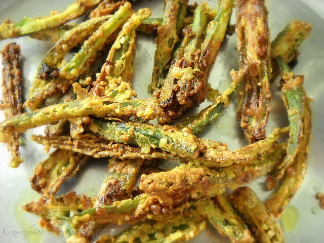 Bhindi Fry Recipe or Kurkuri Bhindi, How to make Bhindi Fry | Okra Fry