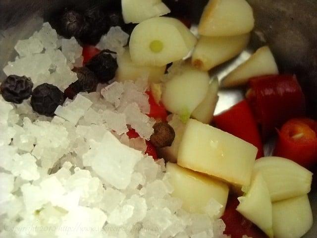 ingredients for thai paste