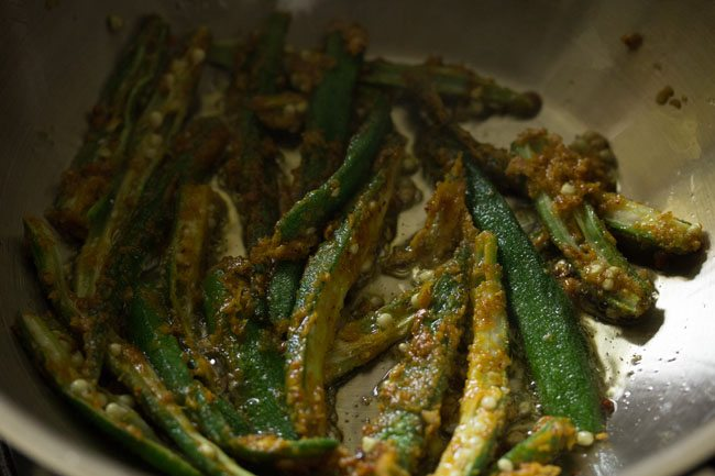 frying kurkuri bhindi recipe