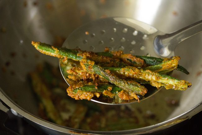fried kurkuri bhindi