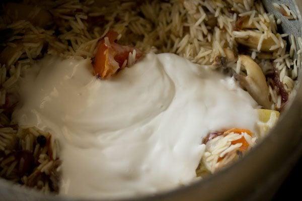 milk to make mushroom pulao recipe