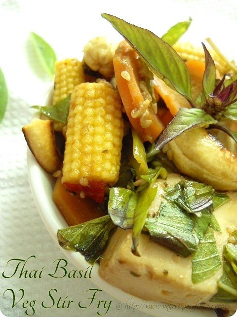 Thai Vegetable Tofu Stir Fry Recipe | Thai Veg Recipes