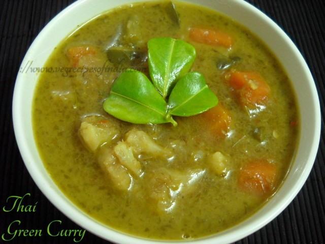 Thai Veg Green Curry Recipe, How to make Thai Veg Green Curry Recipe