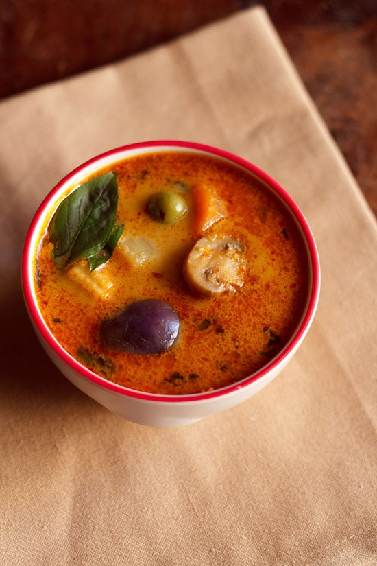 Thai red curry recipe how to make veg thai red curry recipe for Best thai red curry
