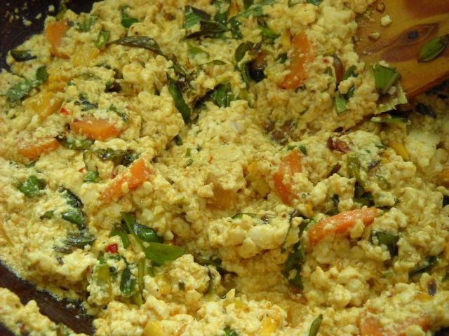 mixing-Thai-basil-leaves