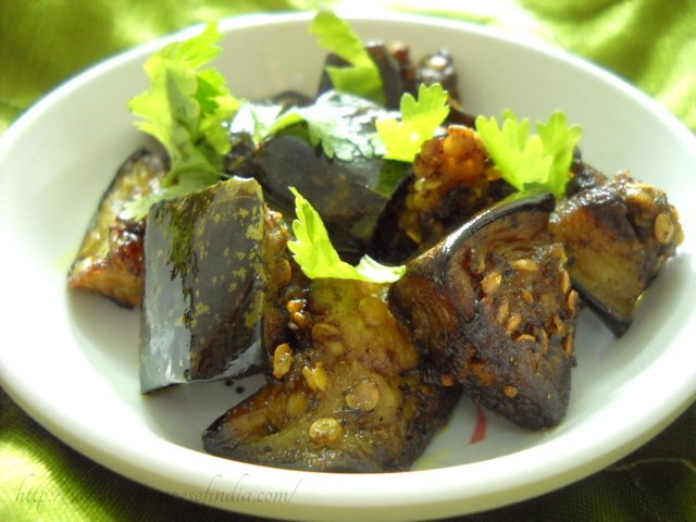 kalimirch baingan recipe, pepper aubergines recipe