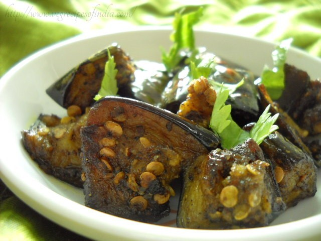 kalimirch baingan recipe, pepper eggplants recipe