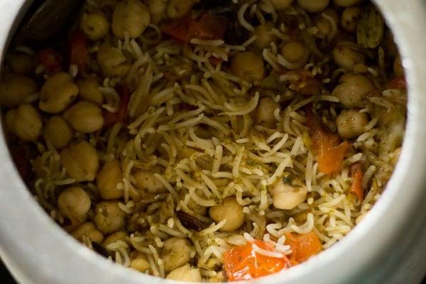 making chana pulao recipe