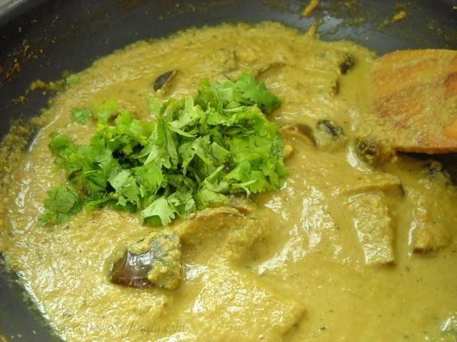 garnish - bagara baingan recipe