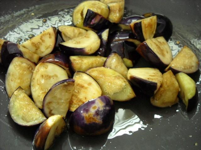 sauted baingans for bagara baingan recipe