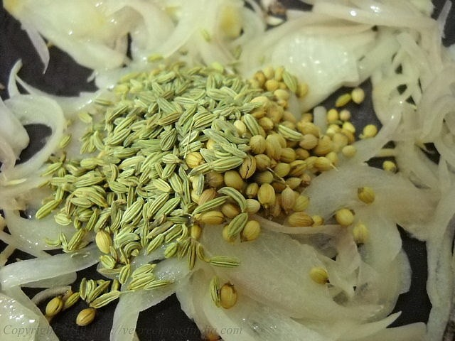 adding fennel coriander for usal recipe