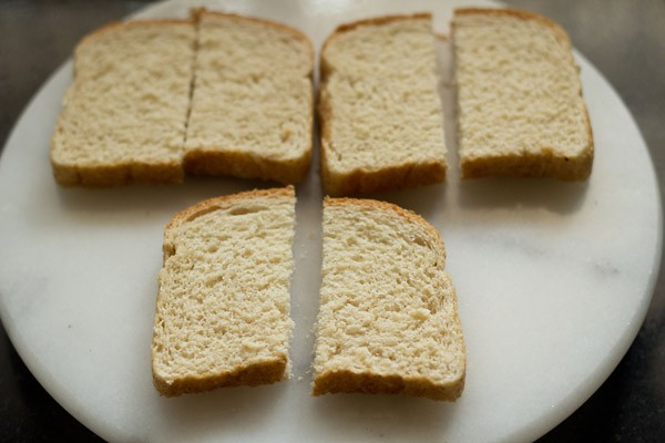 bread cut in rectangles