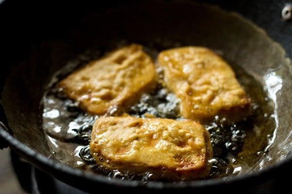 frying bread pakoras