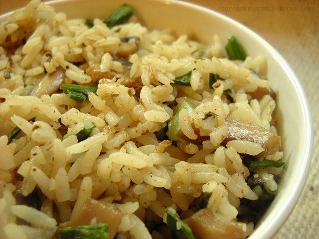 mushroom rice recipe, mushroom rice, easy mushroom rice recipe