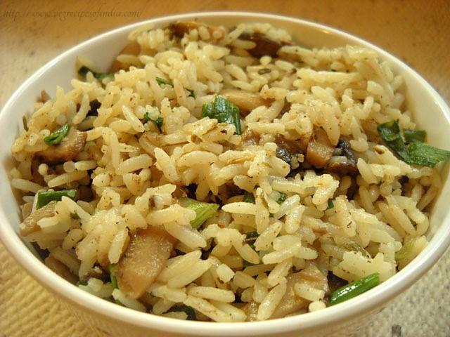 mushroom rice recipe, quick and easy mushroom rice recipe