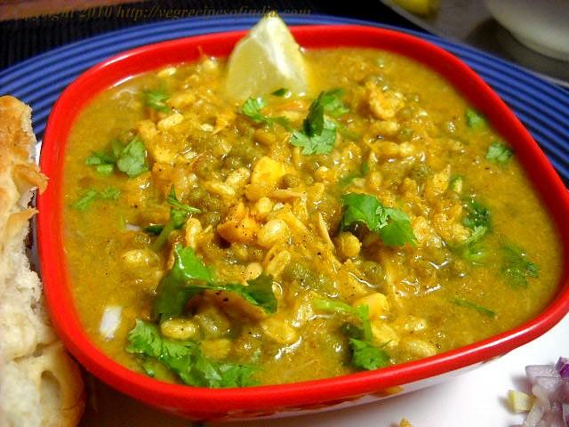 usal recipe, how to make usal | maharashtrian malvani usal recipe