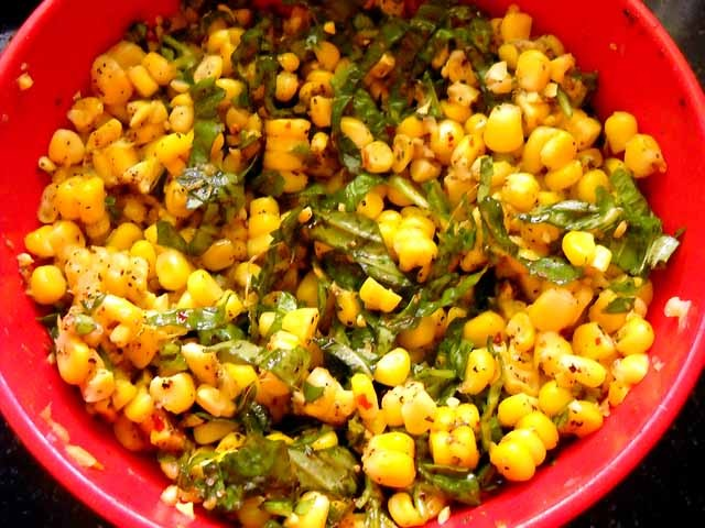 mixed corn mixture
