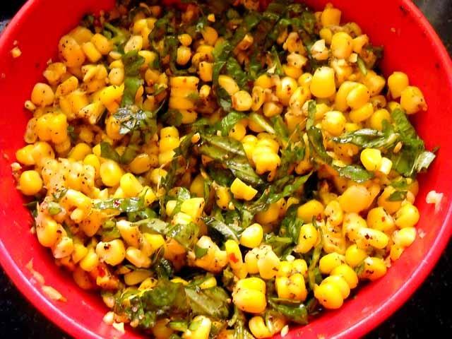 mixed corn mixture