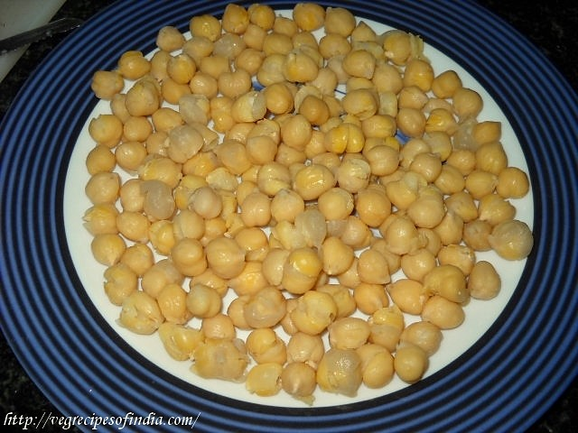 boiled chana for chole chaat recipe