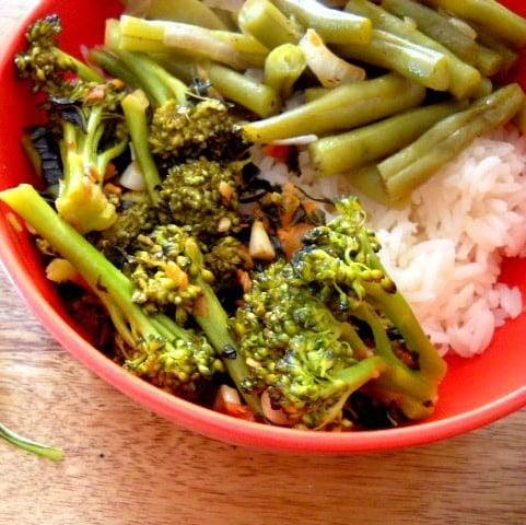broccoli basil
